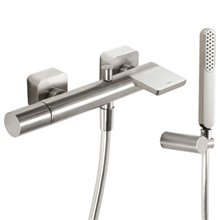 Kit per doccia e vasca da bagno in acciaio TRES LOFT