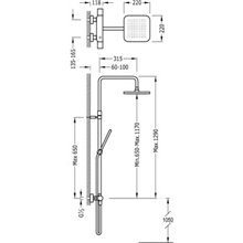 Colonna doccia termostatica cromo/bianco TRES SLIM