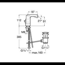 Miscelatore bidet maniglia laterale L90 Roca