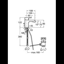 Miscelatore bidet Cold Start L90 Roca