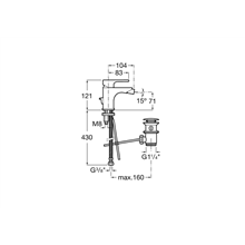Miscelatore bidet L20 Roca