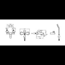 Miscelatore per vasca-doccia esteriore L20 Roca