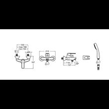 Miscelatore per vasca-doccia esteriore Victoria Roca