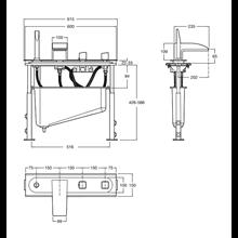 Kit vasca-doccia termostatico soprapiano Thesis Roca