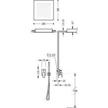Set doccia 2 uscite soffitto CUADRO-TRES