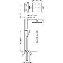 Colonna doccia termostatica per vasca da bagno Cuadro Tres