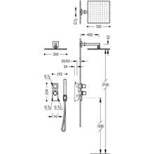 Set doccia termostatico 2 uscite CUADRO-TRES