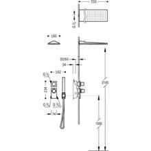 Set doccia termostatico 2 uscite Compact CUADRO-TRES