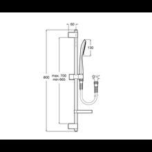 Set doccia Round asta 80cm 4 funzioni Sensum Roca
