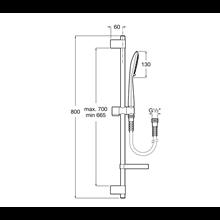 Set doccia Square asta 80cm 4 funzioni Sensum Roca