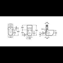Cassetta WC compatto Meridian Roca