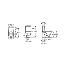 Cassetta WC 4,5/3L inferiore The Gap Roca