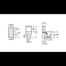 Cassetta WC 4,5/3L laterale The Gap Roca