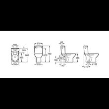 Cassetta WC presa inferiore Victoria Roca