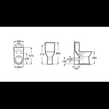 Cassetta WC presa inferiore Access Roca