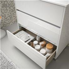 Mobile bagno 101 cm bianco lucido 3 cassetti...
