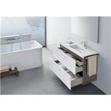Pack mobile 90cm due cassetti bianco-frassino Prisma Roca
