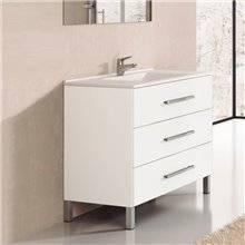 Mobile con lavabo bianco lucido Ribera TEGLER