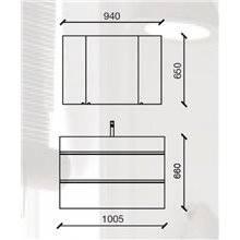 Mobile bagno 101 cm 2 cassetti SPIRIT SALGAR