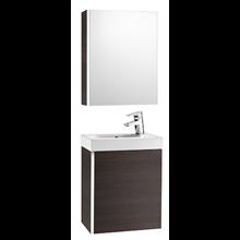Mobile wengé con armadio-specchio Mini Roca