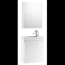 Mobile bianco con armadio-specchio Mini Roca