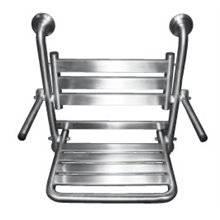 Sedile da doccia ribaltabile in acciaio brillante con braccioli Timblau