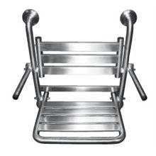 Sedile da doccia ribaltabile in acciaio inox con braccioli Timblau