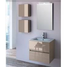Mobile bagno 61 cm grigio lucido 2 cassetti SALGAR FUSSION LINE