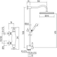 Set doccia termostatico ECO Monoclasic 1900