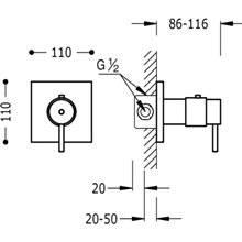 Rubinetto termostatico da incasso per doccia Compact Tres