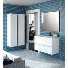 Mobile bagno 101 cm bianco lucido 2 cassetti SALGAR FUSSION LINE