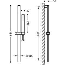 Kit doccia barra scorrevole PROJECT-SLIM TRES