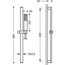 Kit doccia barra scorrevole PROJECT TRES