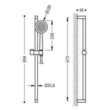 Kit doccia barra scorrevole FASHION TRES