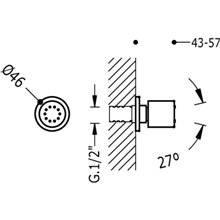 Doccia laterale a incasso anticalcare rotonda TRES