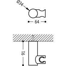 Supporto orientabile rotondo per doccino ottone TRES