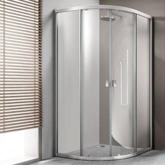 Cabina doccia semicircolare con porte scorrevoli TECHNIC Cosmic