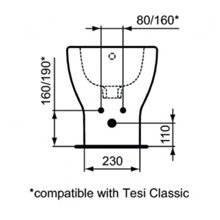 Bidet a pavimento e filo parete TESI Ideal Standard
