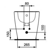 Bidet a pavimento e filo parete CONNECT SPACE Ideal Standard