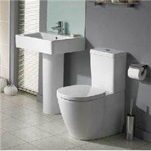 Vaso WC completo compatto CONNECT SPACE Cubico Ideal Standard