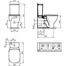 Vaso a parete con cassetta bassa - Ideal Standard