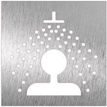Cartello di colore bianco doccia NOFER