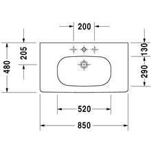 Lavabo per mobile 85 D-Code Duravit