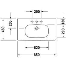 Lavabo per mobile 85 Med D-Code Duravit