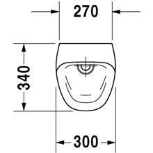 Orinatoio Durastyle alimentazione posteriore 30 DURAVIT