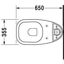 Vaso completo monoblocco 65 D-Code DURAVIT