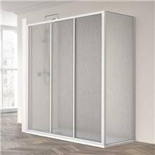 Cabina doccia angolare scorrevole ED-LDF acrilica Profiltek