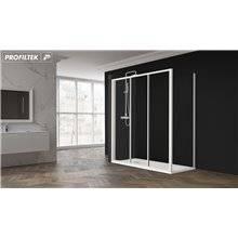 Cabina doccia angolare scorrevole ED-LDF vetro Profiltek
