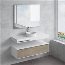Set ripiano + lavabo ACIS portascigamani NATUGAMA