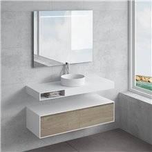 Set ripiano + lavabo ACIS cassetto NATUGAMA